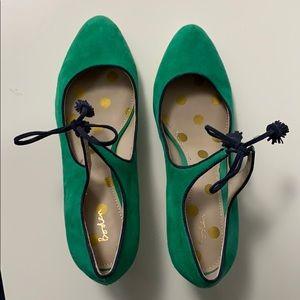 Boden green suede pumps - 2 in heel, size 41.5